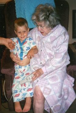 Grandma Gibson and Kade