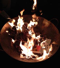 burning bowl